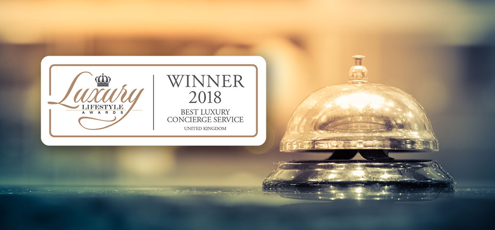 Victoria James Concierge wins Best Luxury Concierge Service in the UK at prestigious luxury lifestyle awards